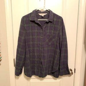 Old Navy navy blue/hunter green flannel, size XL